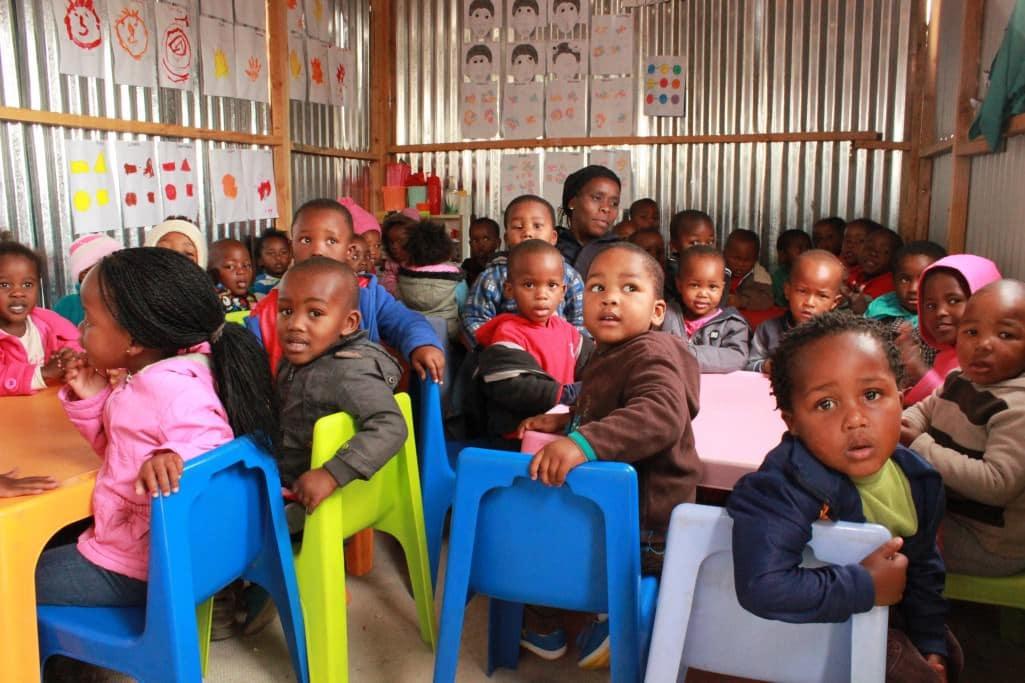 Afrikanische Kinder In Einer Schule