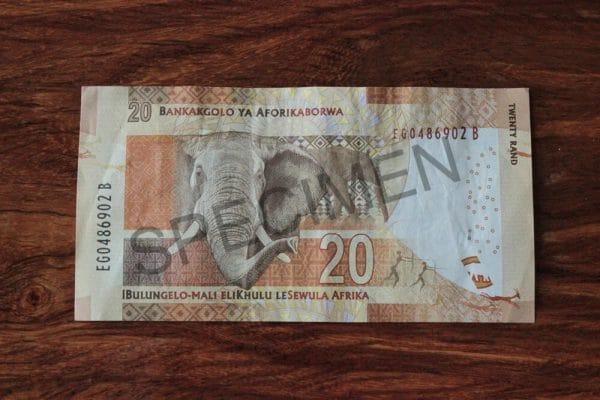 ZAR 20 Rand Hinten Muster