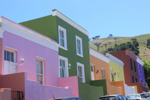Bunte Häuser Im Bo Kaap Viertel