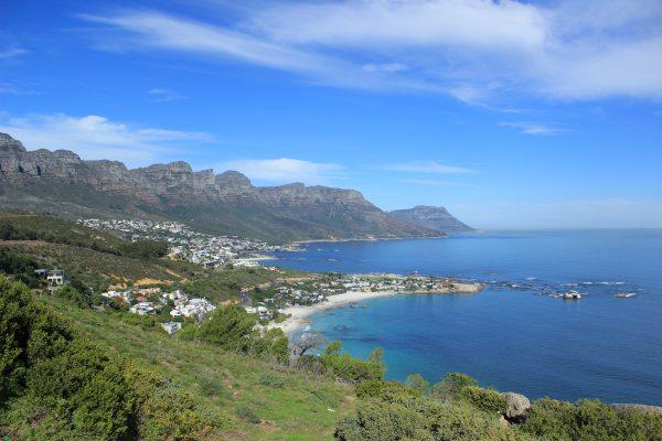 Blick Auf Camps Bay Kapstadt