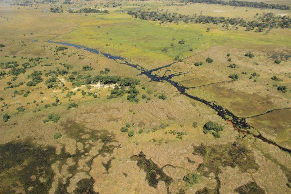 Blick Auf Das Okavango Delta Auf Einer Flugsafari