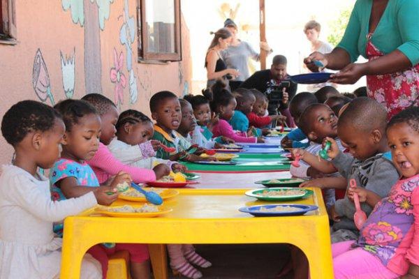 Suedafrika Kapstadt Kinder Im Township
