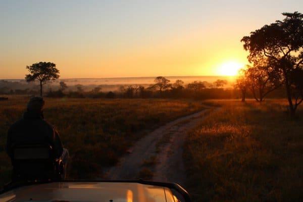 Suedafrika Kruger Park Sonnenuntergang