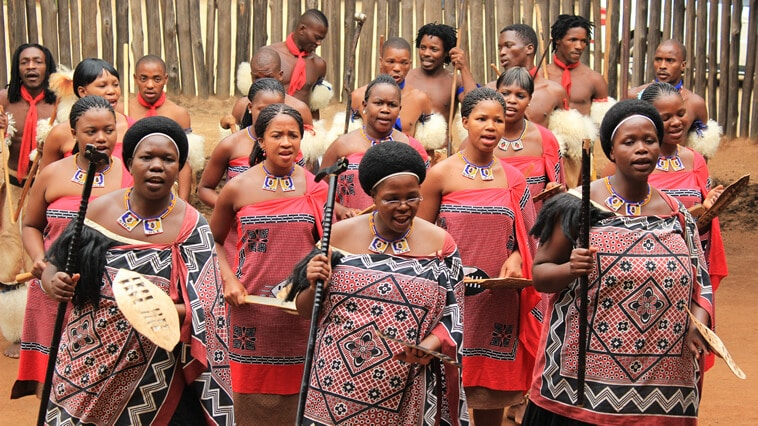 Swasiland Mantenga Cultural Village Tanzgruppe