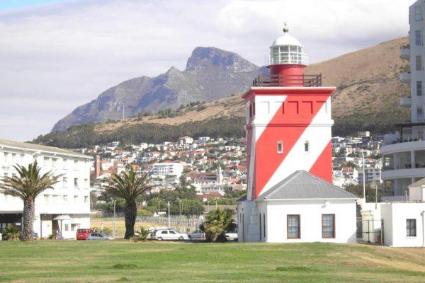Der Leuchtturm Mit Blick Auf Den Devil´s Peak