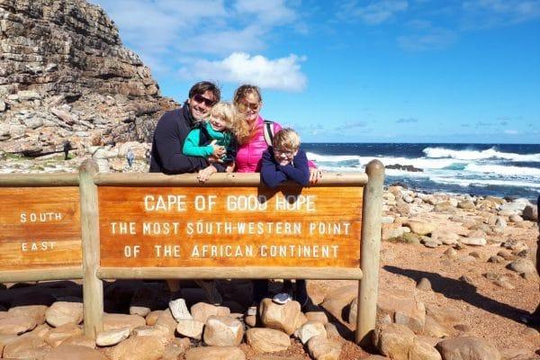 Freudige Gesichter Am Cape Of Good Hope