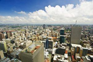 Blick Auf Johannesburg Aus Der Luft