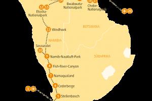 Karte NANAM