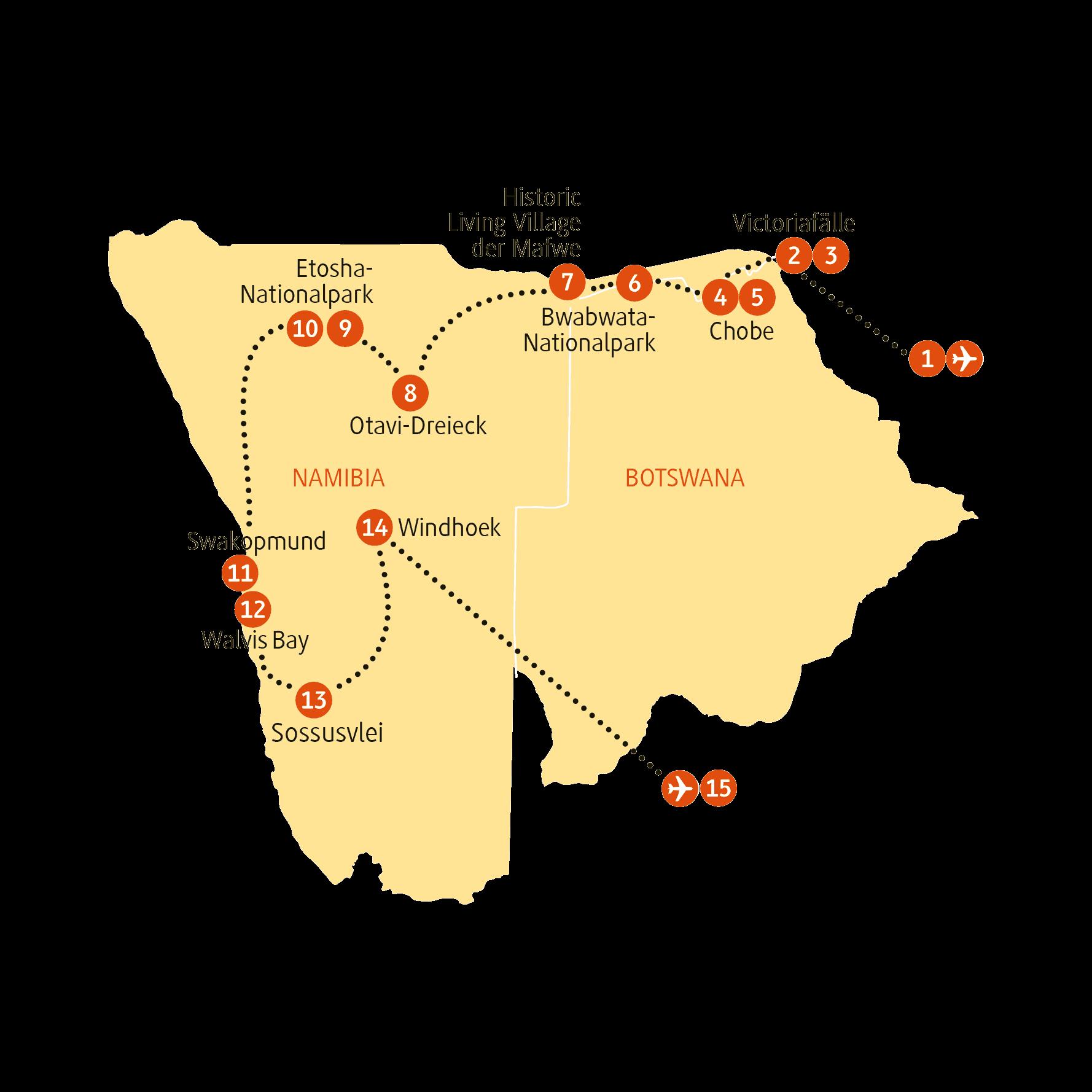 Karte NAPBU