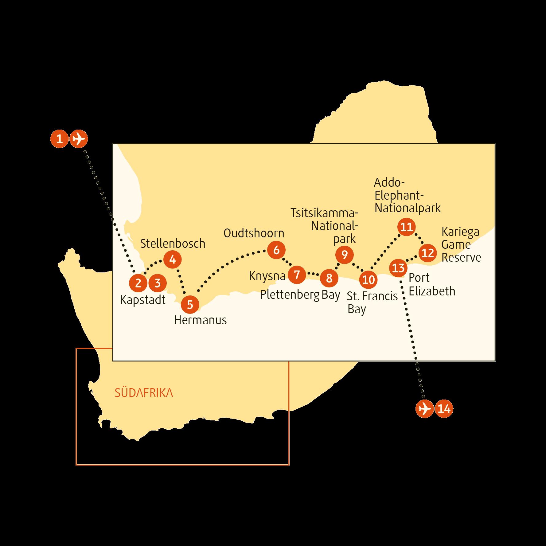 Karte SAPEL