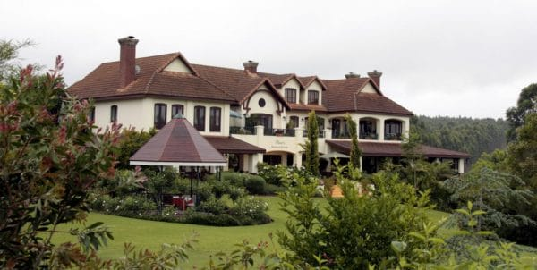 Blick auf Olivers Restaurant Lodge