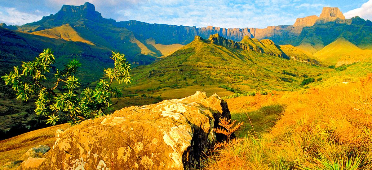 Drakensberge im Fotolicht