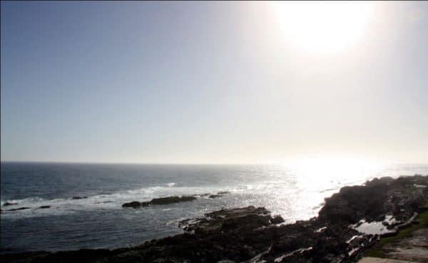 Blick von der Küsten in Plettenberg Bay