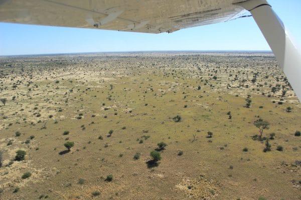 Central Kalahari Game Reserve Von Oben