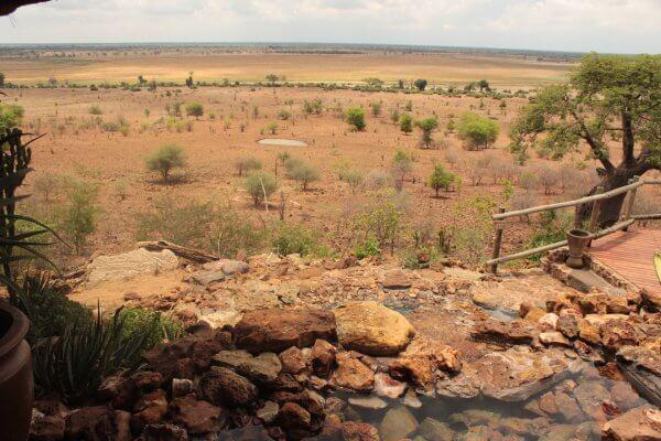 Botswana Chobe National Park Ngoma Blick Nach Namibia