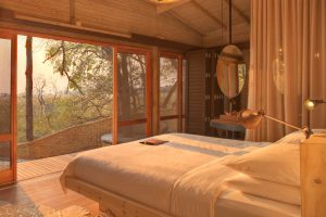 Botswana Moremi Game Reserve Sandibe Safari Lodge Zimmerblick
