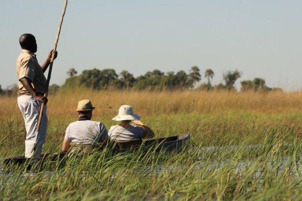 Bootsfahrt Im Okavango Delta