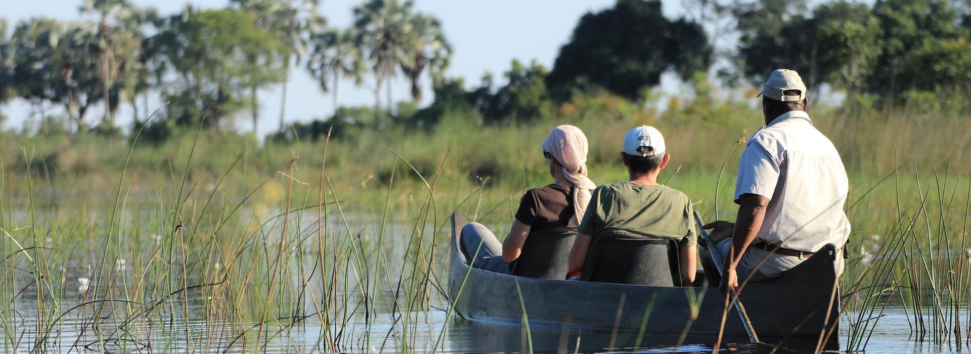 Botswana Olavango Delta Mokoro Safari