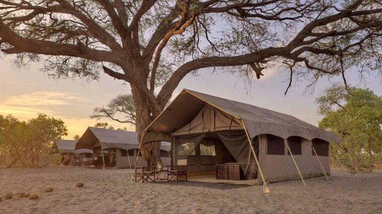 Großes Zelt bei einer Mobile Camping Safari