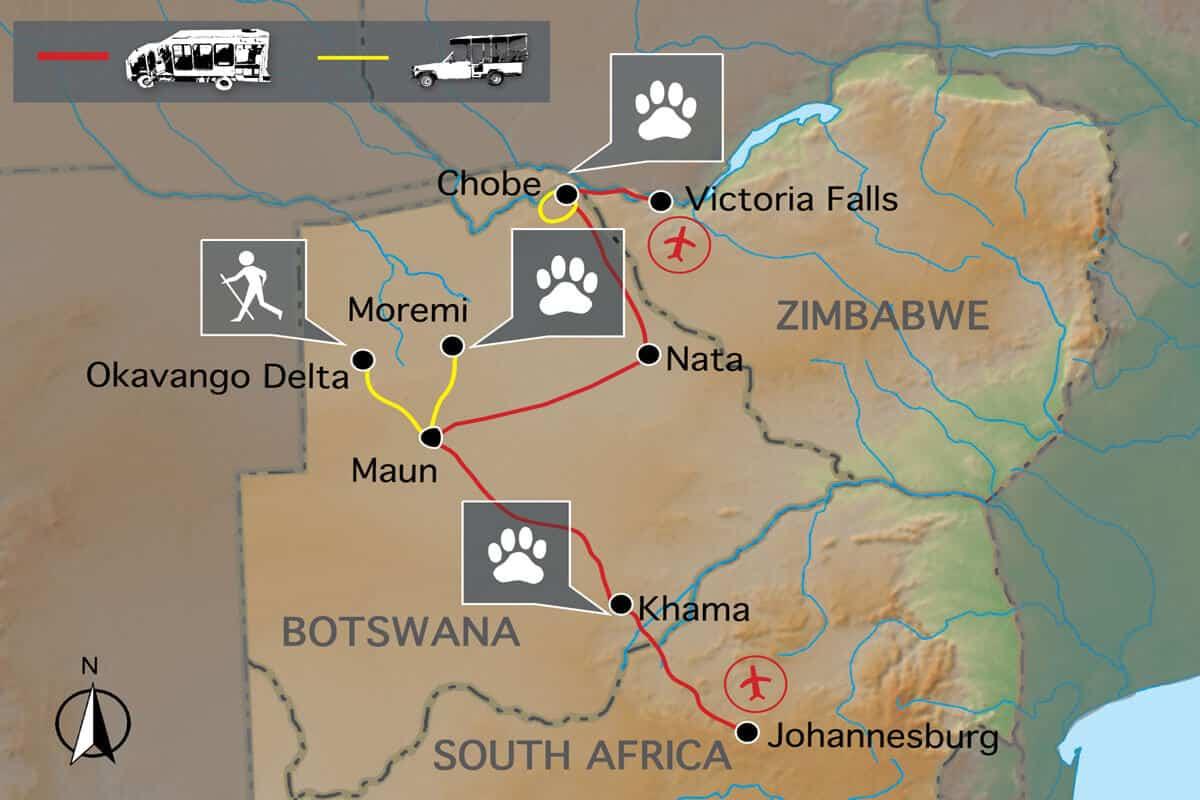Botswana Wild Parks Map