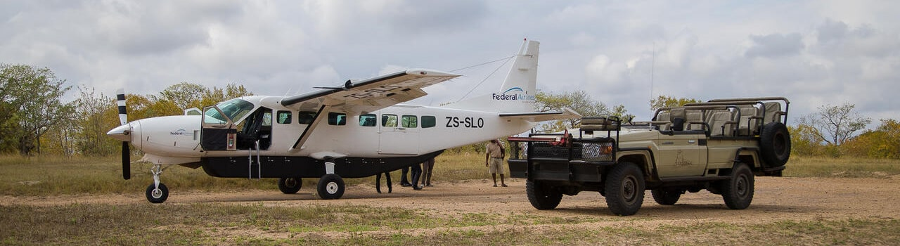 fly in safari suedafrika mit federal air header