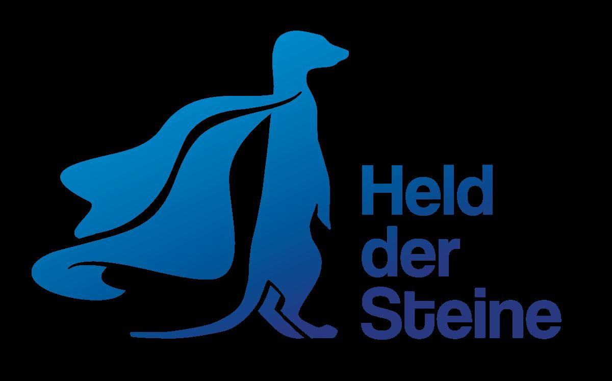 Blaues Held Der STeine Logo - Erdmännchen Mit Cape
