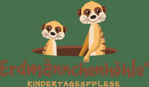 Logo Der Kita Erdmännchenhöhle Aus Essen | Zwei Erdmännchen Schauen Aus Einem Loch