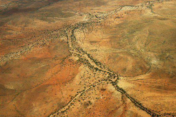 Namibia Windhoek Landschaft Von Oben