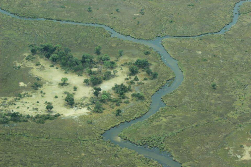 Okavangodelta Von Oben | Flusslauf