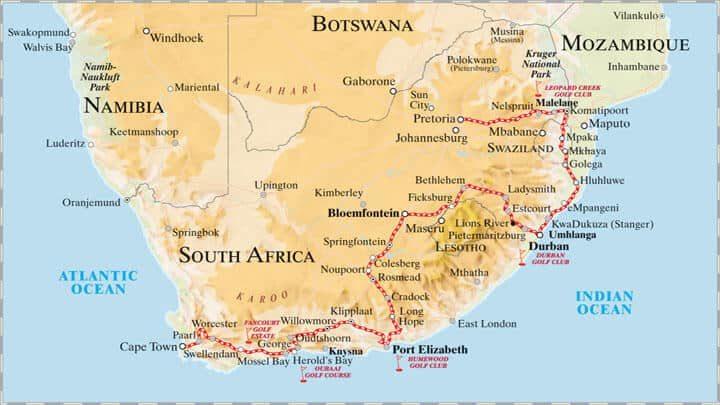 Rovos Rail Reisen - African Golf Collage