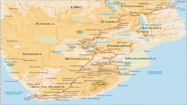 Kapstadt nach Daressalam