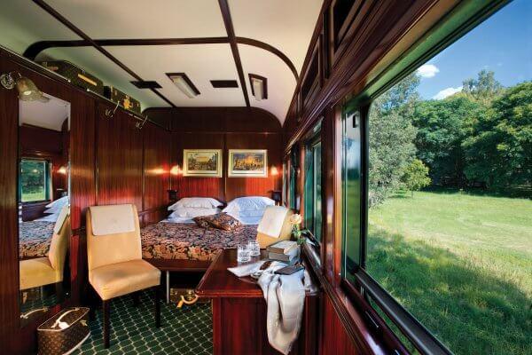 Rovos Rail Deluxe Suite Doppelbett