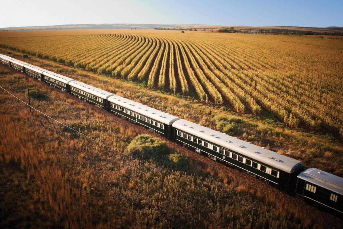 Luftaufnahme Rovos Rail Landschaft North West