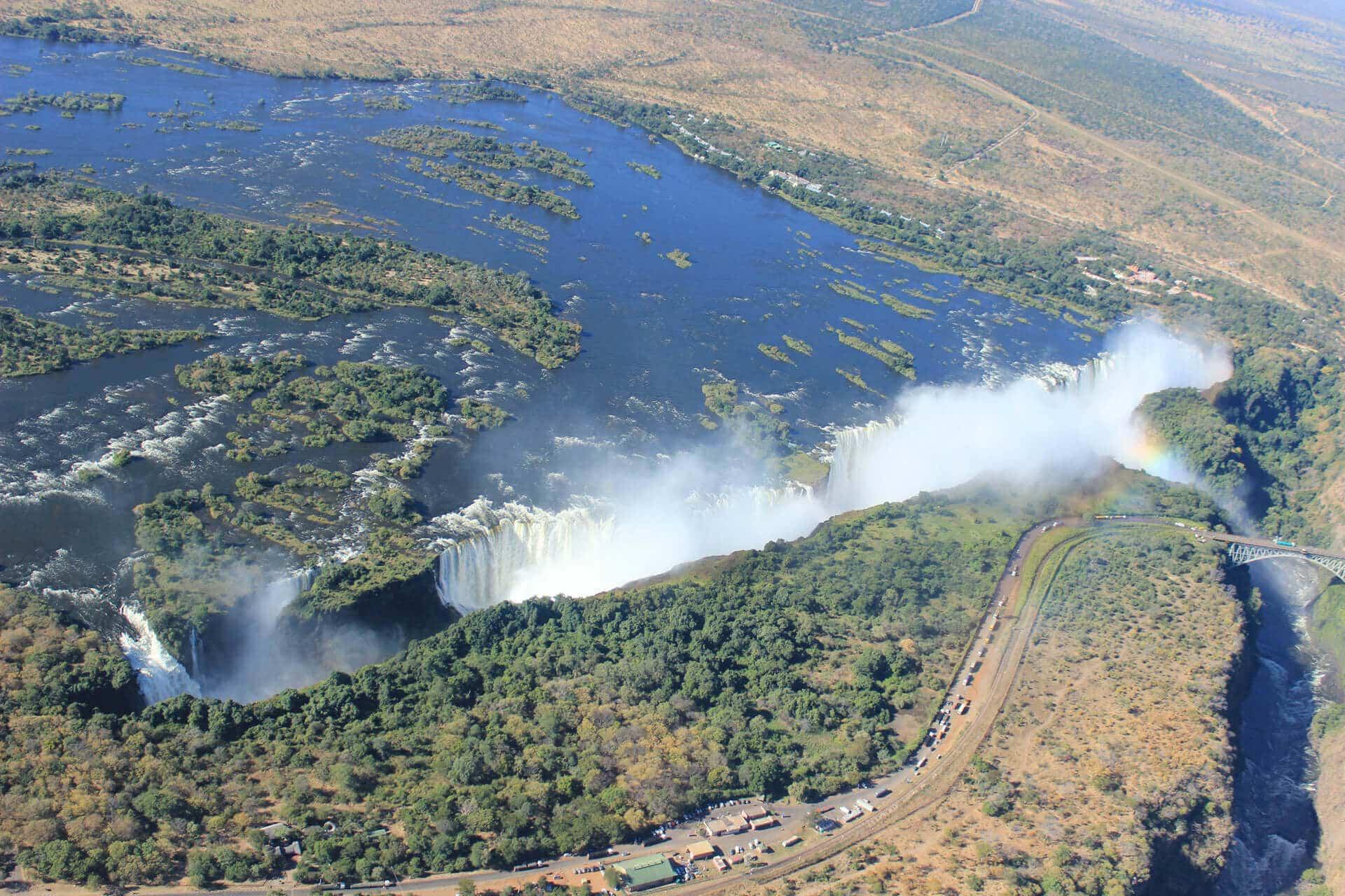 Victoria Falls vom Hubschrauber