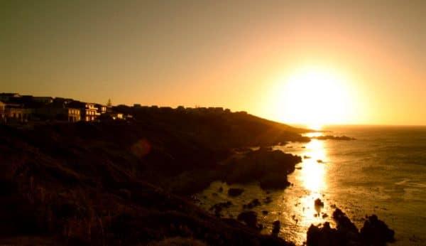 Sonnenuntergang in de De Kelders