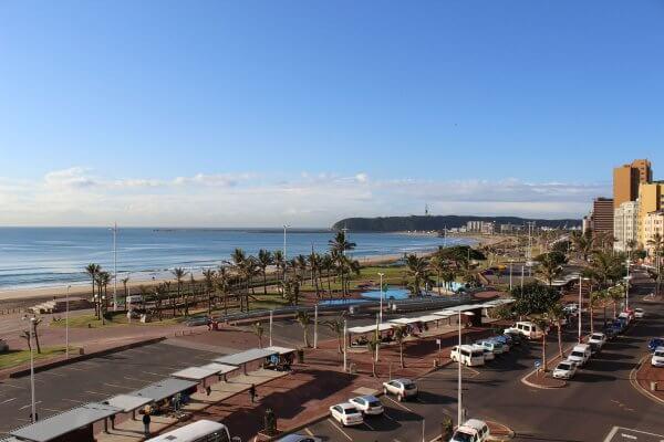 Panorama Der Strandpromenade In Durban