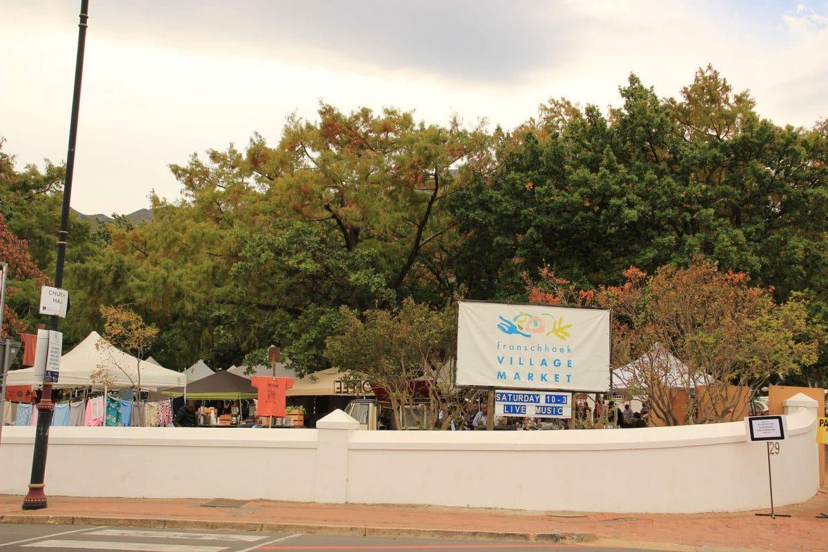 Franschhoek Village Market Eingang