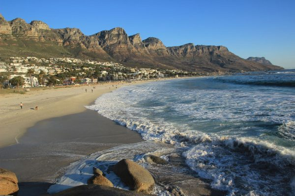 Camps Bay Beach Blick Auf Twelve Apostles