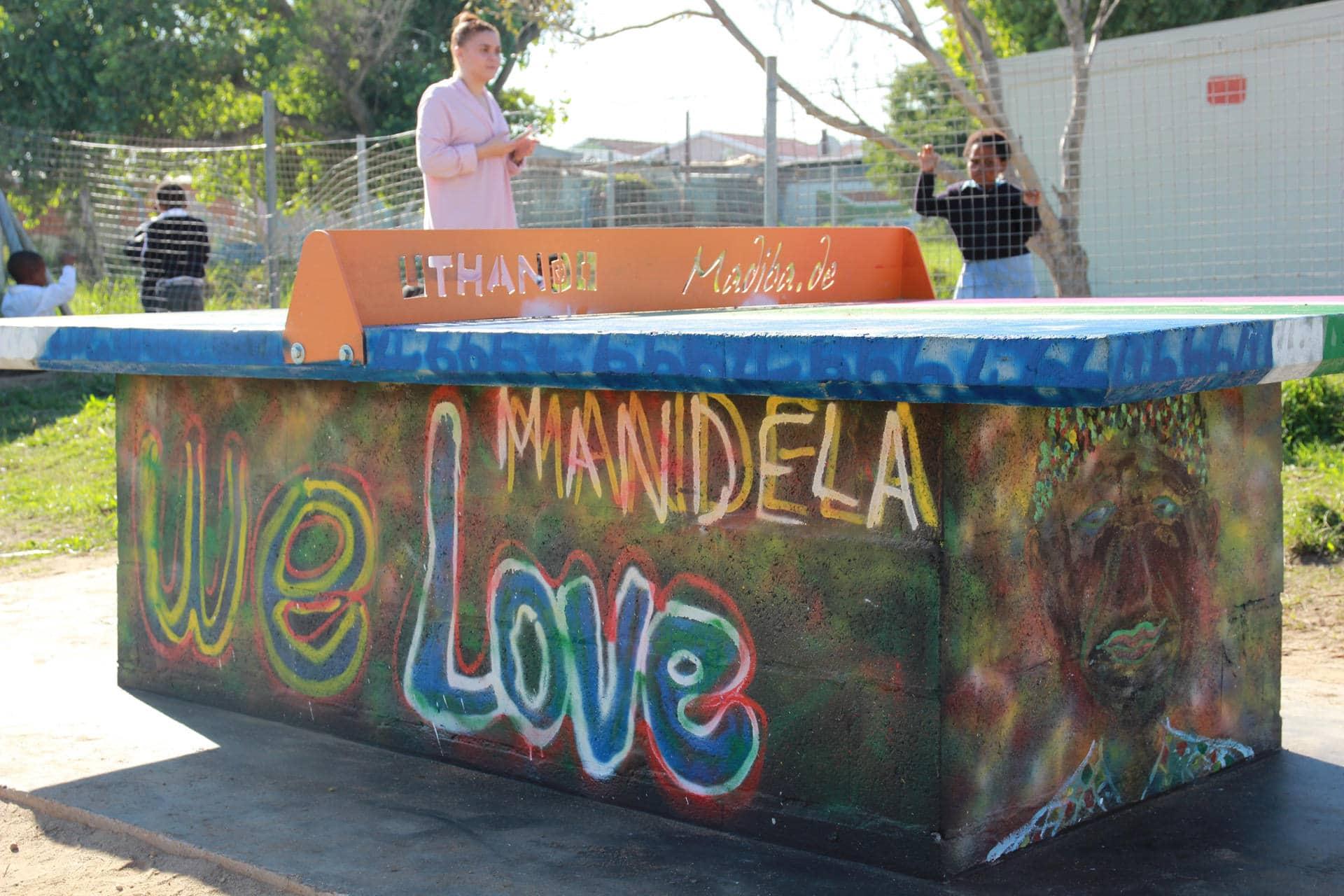 Nelson Mandela Bemalung in den Townships