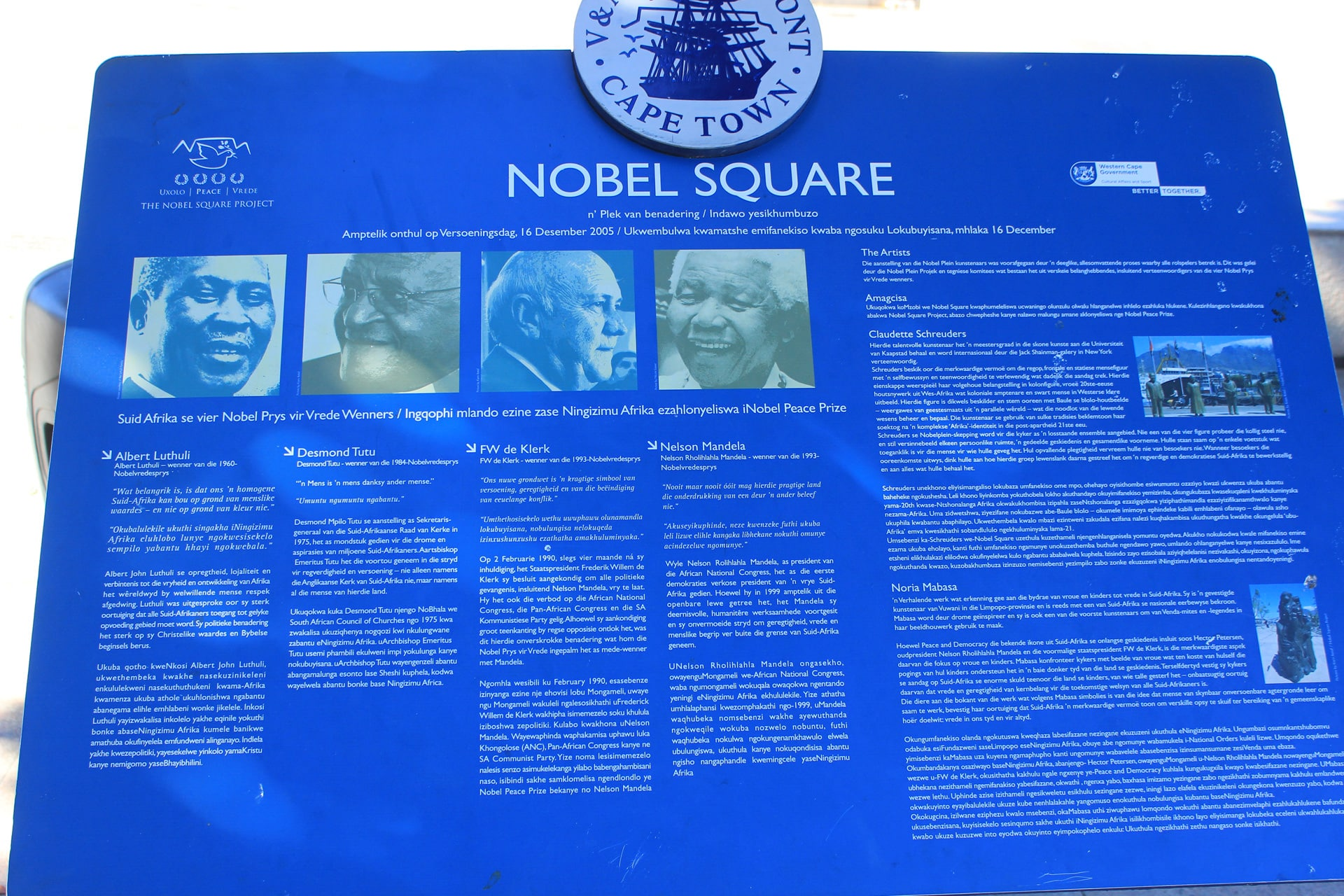 Nobelpreisträger Nelson Mandela