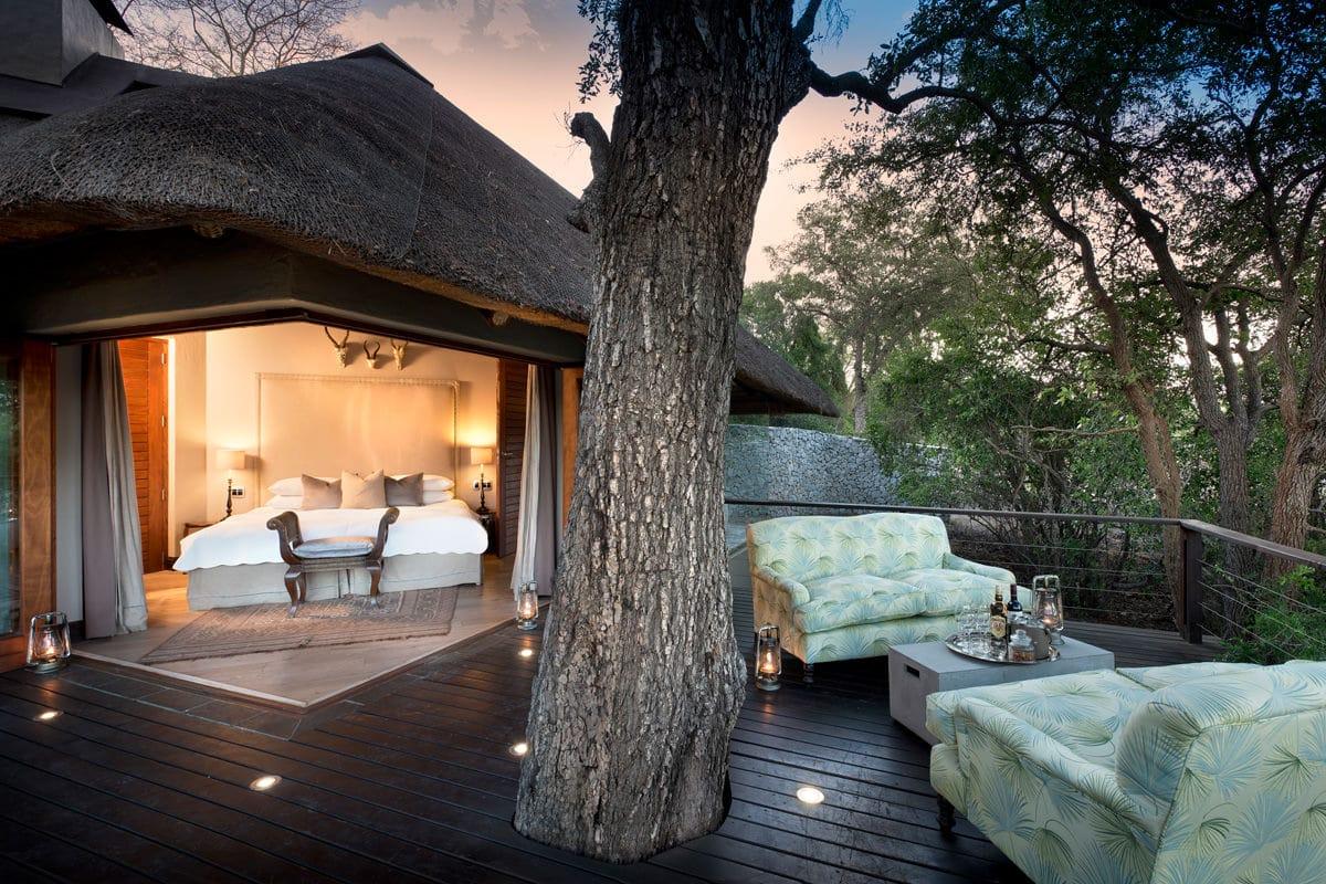 Ngala Safari Lodge Chalet von außen