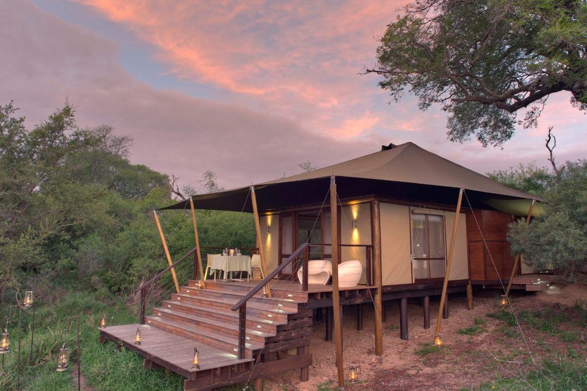 Ngala Tented Camp Zelt von außen