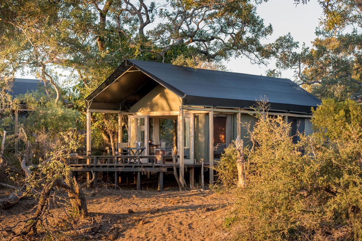 Simbavati River Lodge Zeltansicht