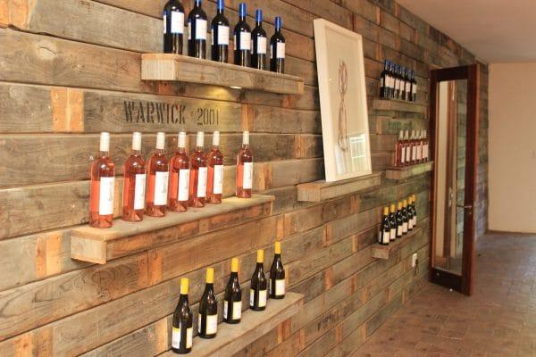 Warwick Weingut Weinflaschen