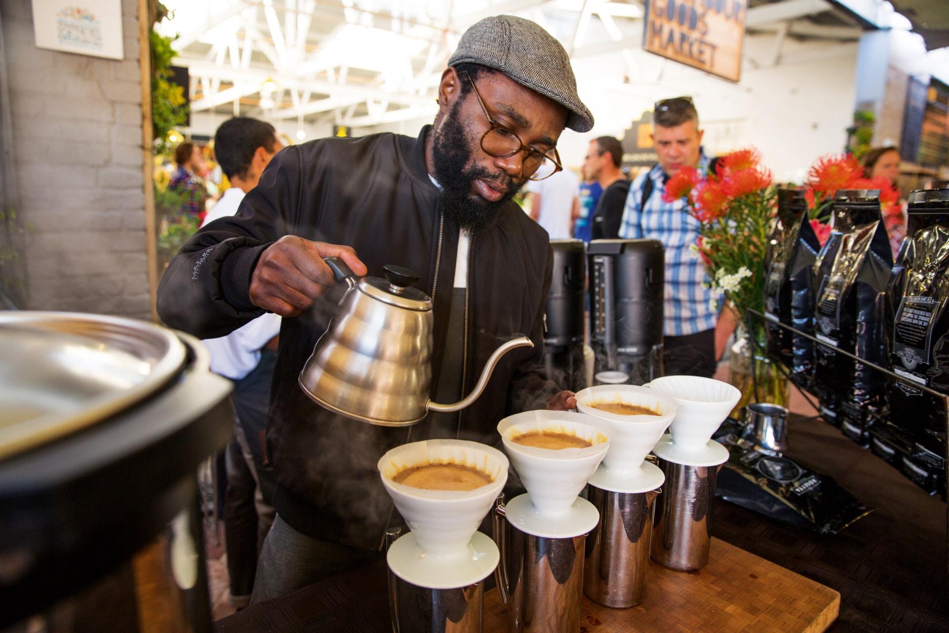 Original Coffee Brew Auf Dem Food Market