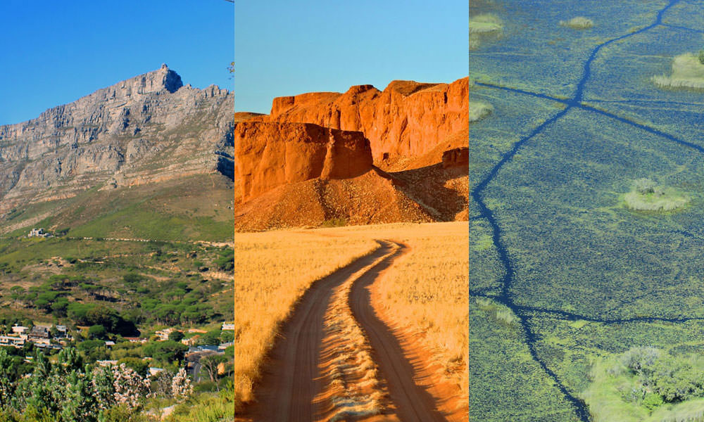 Südliches Afrika Foto-Collage