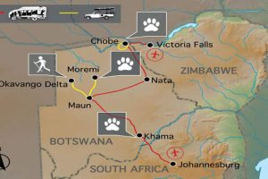 Botswana Wild Parks Erlebnisreise Botswana