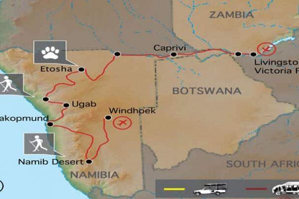 Desert Sambesi Erlebnisreise Namibia
