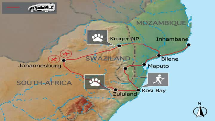 Mosambik & Krüger Safari Erlebnisreise