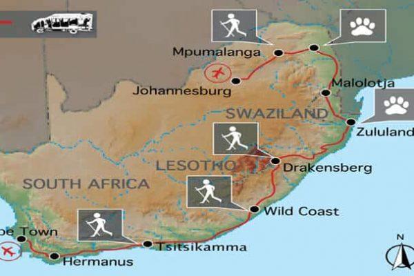 Rainbow Route Erlebnisreise Südafrika